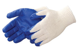 Blue Latex Palm Coated Work Gloves