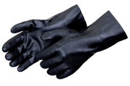 Full Coated Black PVC Gloves