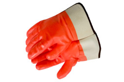 PVC & Nitrile Rubber Full Coated Gloves
