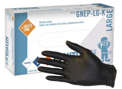 Safety Zone 4 5 Mil Standard Grade Black Nitrile Disposable Exam Gloves Powder Free Case Item Gnep K East Coast Glove Supply Inc
