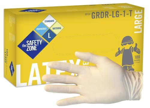 Grdr Safety Zone Grdr 1t 5 Mil Standard Grade Latex