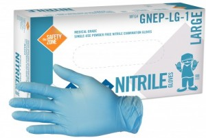 Safety Zone Gnep 1 Blue Nitrile Medical Exam Gloves Powder